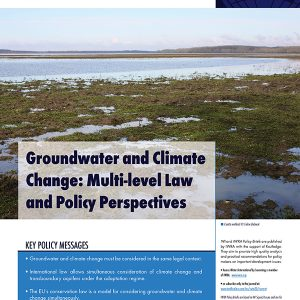 IWRA Policy Brief on Groundwater & Climate Change