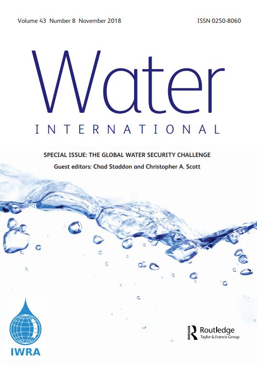 Water International Journal (Vol. 43, Issue 8, 2018)
