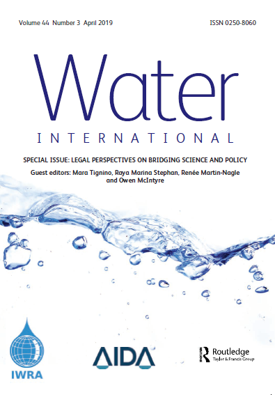 Water International Journal (Vol. 44, Issue 3, 2019)