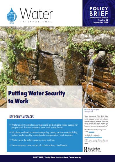 Water International Policy Brief N°12