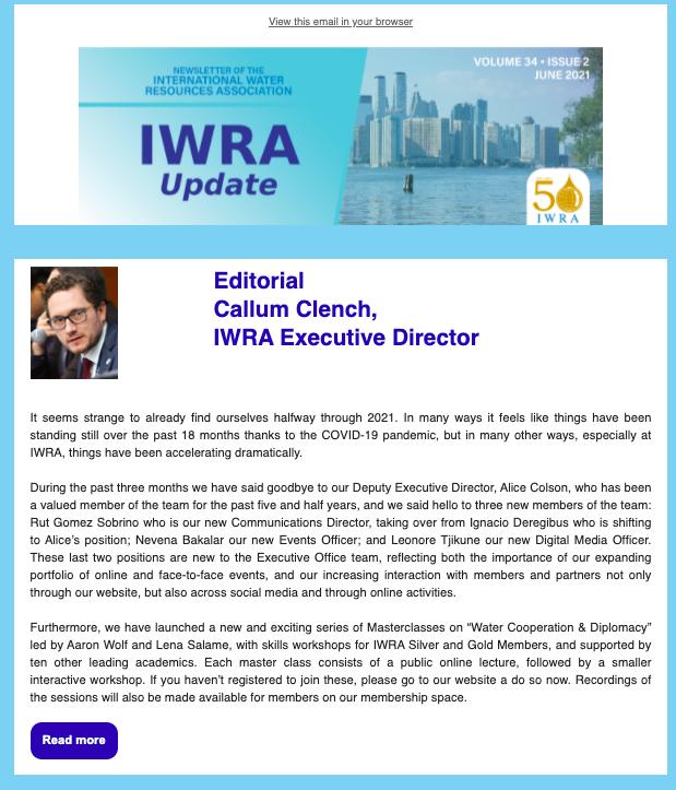 IWRA Update, June 2021