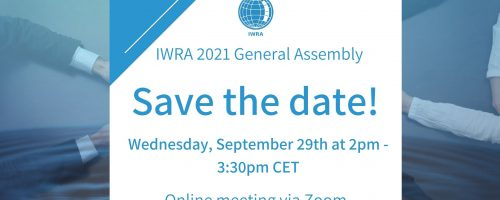 Save the date: IWRA General Assembly 2021!