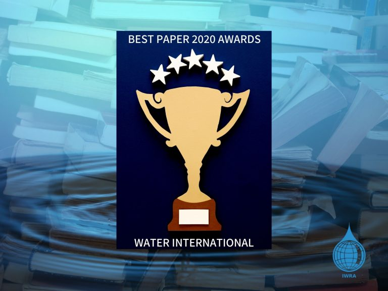 Just Revealed! Check out the results of Water international's Best paper 2020 awards!